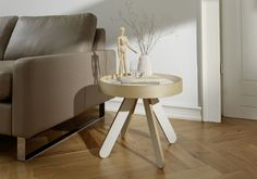 side table white VALET LOW