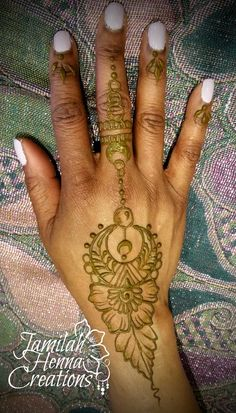 Moon jewelry henna www.JamilahHennaCreations.com