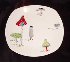"""RARE Midwinter Pottery Toadstools 8.5"""" plate JESSIE TAIT 1950's"""