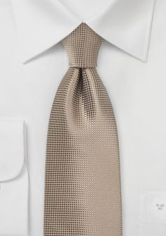 Taupe Colored Necktie with Textured Weave