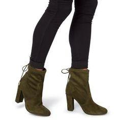 DUNE LADIES ORCHID - Round Toe Block Heel Ankle Boot - khaki   Dune Shoes Online