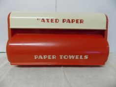 Vintage Red and White Retro Kitchen Plastic by PfantasticPfinds, $49.99