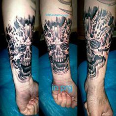 #tattoo #tattoos #ink #inked #lefthandtattoos #lifestyletattoo #lifestyle #skull