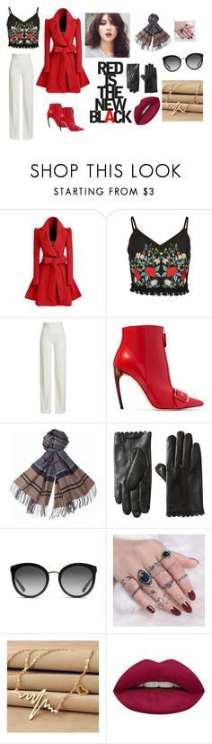 """Fashion for Fun"" by snegarajan on Polyvore featuring WithChic, Brandon Maxwell, Alexander McQueen, Barbour, Dolce&Gabbana and Huda Beauty"