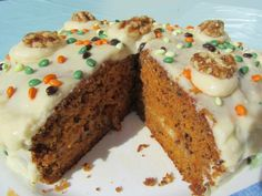 Tarta carrot cake Thermomix - La Juani de Ana Sevilla Cake Thermomix, Recipe For Mom, Homemade Cakes, Carrot Cake, Meatloaf, Sweet Recipes, Carrots, Sweet Treats, Food And Drink
