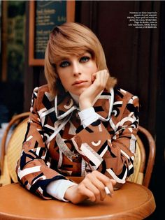 """Edie in Paris"" Edie Campbell by Alasdair McLellan for Vogue Paris September 2014 PRADA"