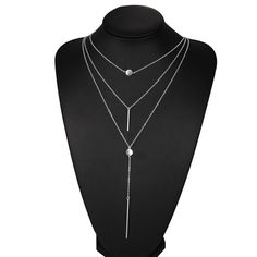 H:HYDE Fashion Alloy metal bar Pendant 3 Layers Chain Necklace Chunky Women statement Choker Necklaces Women Jewelry -in Choker Necklaces from Jewelry & Accessories on Aliexpress.com | Alibaba Group