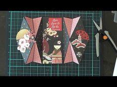 (117) Double Diamond Fold Card & Geisha Girl - YouTube