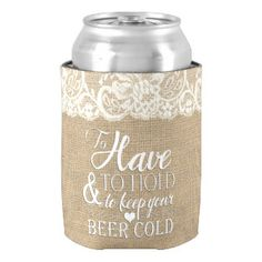 To Have and To Hold Mongram Wedding Koozie