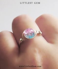 Etsy の Cotton Candy Ring by littlestgem