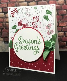 Diy christmas cards 419890365255036556 - Quick & Easy Christmas cards using Be Merry DSP and Snowflake Sentiments from Stampin' UP! Source by diannagroff Stamped Christmas Cards, Simple Christmas Cards, Christmas Card Crafts, Homemade Christmas Cards, Merry Little Christmas, Xmas Cards, Handmade Christmas, Homemade Cards, Holiday Cards