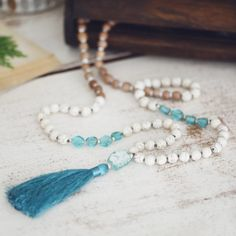 Ancient Thai and Roman Glass Hand-knotted Mala by TAIPAaccessories