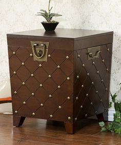 Look what I found on #zulily! Espresso Nailhead End Table Trunk #zulilyfinds