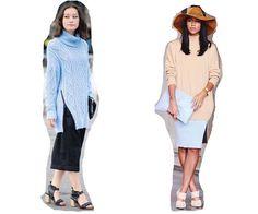 Con una falda lápiz un saco grueso se ve elegante y sofisticado http://wp.me/p1WwjW-27S