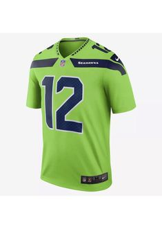Nike Seattle Seahawks  12 The Fan Color Rush Legend Jersey 821818 325 Sz  3XL   353000696