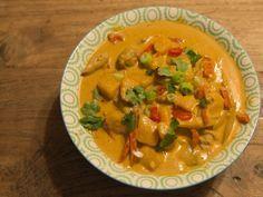 Heerlijke Thaise Curry met pompoen en kip Delicious Thai Curry with pumpkin and chicken.
