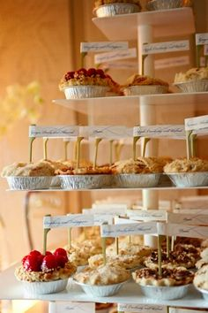 Pie Table....great idea for a dessert table at a party!