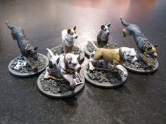 Zombicide Box of Dogs Set #6: Dog Companions - Got these at GenCon too...trying to figure out how I want the bases....like these alot