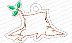 Jesse Tree Ornament Day 15 Stump Embroidery Design is a way to advent with your family and countdown the days until Christmas. 25 ornaments in the whole set.