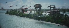 Trouble in paradise in Rogue One. But which would you rather be in control of – an X-wing, a U-wing or an AT-ACT? Star Wars, October 2016