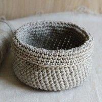free pattern for crochet basket in linen