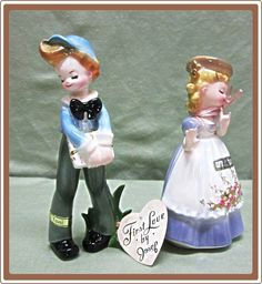 Josef Originals First Love Pair Tina and Toni from Cobayley Vintage Jewelry Antiques Collectibles on Ruby Lane