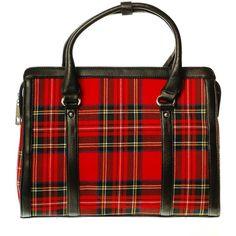 Las Wool Tartan Handbag Satchel Style Royal 12 Found On Polyvore