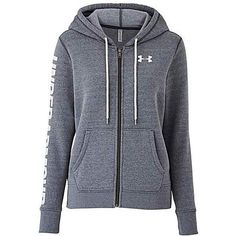 UNDER ARMOUR FAVOURITE FLEECE FZ HOODIE (£55) ❤ liked on Polyvore featuring tops, hoodies, hooded fleece pullover, under armour, hooded top, hooded hoodie and under armour hoodies