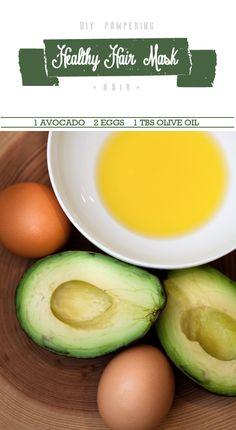 avocado hair mask  We used to use mayo instead of avocado. Going to try this version. Sounds less smelly. :-)