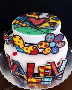 Romero Britto Cake cakepins.com