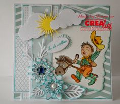 Used Crealies products:  http://www.crealies.nl/detail/1068066/06-02.htm  Double Fun No 03  Double Fun No 12  Set of 3 Flowers No 10  Set of 3 Flowers No 12  Crea-Nest-Lies XXL No 02  Text Tags No 04  Creative Shapes No 22  NL tekst stempel: In de wolken