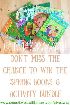 #win this great #giveaway on http://www.peaceloveandliteracy.com/giveaway  Spring books & activity bundle from Peace, Love and Literacy with Barefoot Books #barefootbooks #peaceloveandliteracy