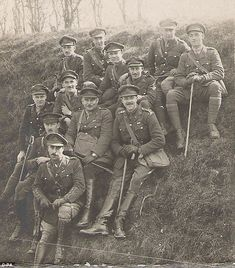WW1, The Wipers Times: Captain FJ Roberts (second row, centre), the soldier who first produced the famous newspaper, pictured with his division in a photo that has been released to coincide with the release of a paper inspired by his publication.