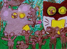 NFAC ACEO Enchanted Forest Theme Park mouse family-vacation pic Original whimsey #whimsical