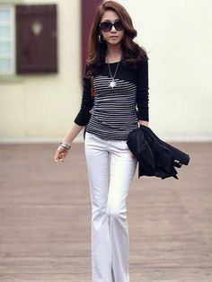 Long Sleeve Cotton Shirt Shirts from fashionmia.com