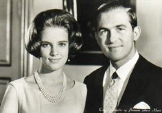 Photo from the official engagement of King Constantine II and Queen Anne marie in 1965.