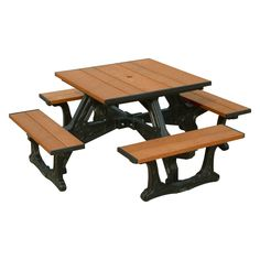 For a table that looks straight off of Main Street, there's none better than the Polly Products Town Square Recycled Plastic Picnic Table . Patio Table, A Table, Open Table, Commercial Picnic Tables, Plastic Picnic Tables, Outdoor Restaurant Patio, Stainless Steel Fasteners, Table Frame, Table Dimensions