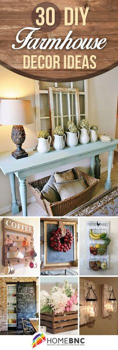 30 Ways DIY Farmhouse Decor Ideas Can Make Your Home Unique - From HomeBNC | Glamour Shots Photography