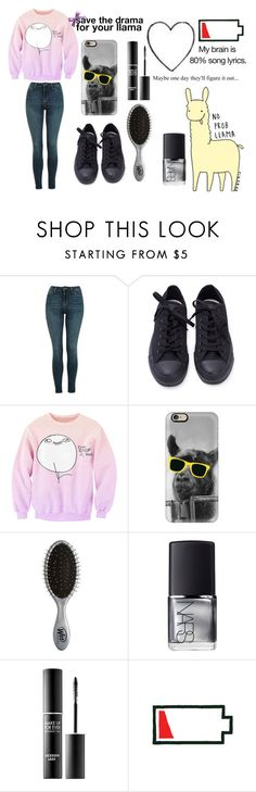 """""""llama llama llama llama"""" by xx-random-fangirl-xx ❤ liked on Polyvore featuring Topshop, Casetify, The Wet Brush, NARS Cosmetics and MAKE UP FOR EVER"""