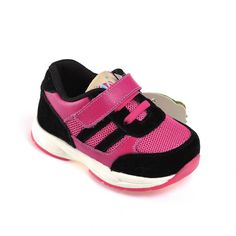 Caroch   Nikki   Toddler Girls Sneakers These hot pink and black toddler girls shoes are so cool and different to the usual boring sneakers!