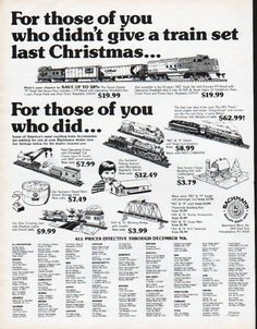 "1979 BACHMANN BROS. TRAINS vintage magazine advertisement ""a train set last Christmas"" ~ For those of you who didn't give a train set last Christmas ... The Diesel Hustler ~"