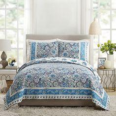 Dena Home Bisou Floral 3-Piece Quilt Set | Bed Bath & Beyond King Quilt Sets, Queen Quilt, Modern Floral Design, French Pattern, King Pillows, Pillow Shams, Full Bed, Dena, Bath
