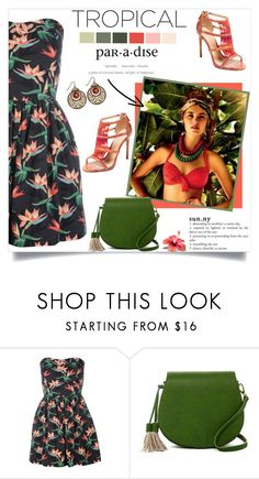 """""""Tropical Paradise"""" by annabu ❤ liked on Polyvore featuring Cotton Candy, Poverty Flats and Alexandre Birman"""