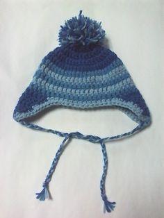 Cappello da bambino con paraorecchie in misto lana a uncinetto 3f8bccf812d4