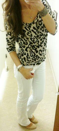 Top: F21  White Denim: Marshalls  Shoes: Macys  Belt: J.Crew  Bracelet: F21  Rings: Charlotte Russe