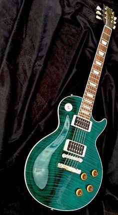 2008 RARE Gibson Custom Shop Les Paul Standard Custom Color Flame Top Guitar