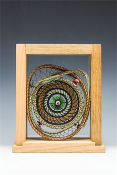 Pine Needle Creations by Sheri Smith Rope Basket, Basket Weaving, Birch Bark Baskets, Pine Needle Crafts, Making Baskets, Pine Needle Baskets, Bubble Art, Feather Painting, Pine Needles