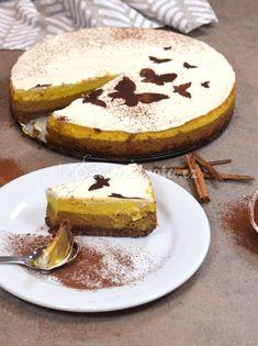 Dýňová sezóna: Nejlepší tříbarevný dýňový cheesecake s čokoládou Sweets Recipes, Desserts, Cheesecake, Pumpkin Recipes, Tiramisu, Camembert Cheese, Smoothies, Snacks, Baking