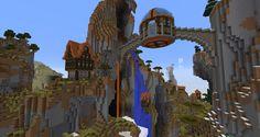 Overview of my spawn village - Imgur