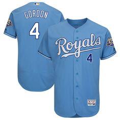 3c174aa8f Alex Gordon Kansas City Royals Majestic 50th Season Patch On-Field Flex  Base Player Jersey - Light Blue